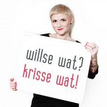 Willste wat? Krisse wat! Fotografie von Nora Kolbe: http://www.fotografie-hokusfokus.de